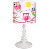 Oopsy Daisy Owls on Branch Pink Lamp Shade & Base