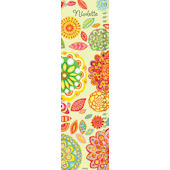 Radiant Flowers Canvas Growth Chart