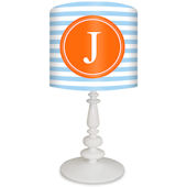 Oopsy Daisy Striped Monogram Blue & Orange Lamp