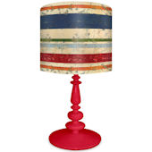 Oopsy Daisy Vintage Stripes Lamp Shade and Base