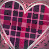 Plaid Heart Wall Canvas Art