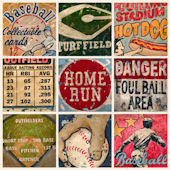 Americas Favorite Pastime Cream Wall Canvas Art