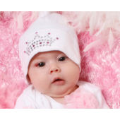 Baby Bling Crown Beanie Hat