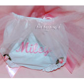 Embroidered Tutu Diaper Cover