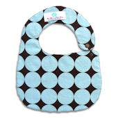 Blue and Chocolate Disco Dot Bib