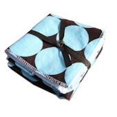 Blue and Chocolate Disco Dot Washcloth Set of 2