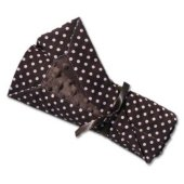 Chocolate and Pink Dots Stroller Blanket