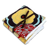 Chocolate Mocca Washcloth Set of 2