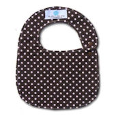 Chocolate and Pink Dots Bib