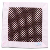 Chocolate and Pink Dots Lovey Blanket