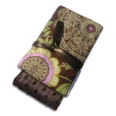 French Lace Burp Cloth Set