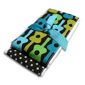 Groovy Guitars Burp Cloth Set