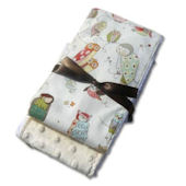 Spotted Owl Burp Cloth Set