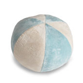 Peek A Boo Beach Baby  Ball Pillow