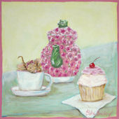 Hello Cupckae Classic Cupcake with Mouse  Wall Art