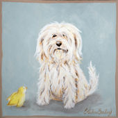 Little Buddy Classic Doggie with Chick  Wall Art