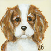 Little Buddy Classic Doggie King Charles  Wall Art