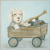 Little Buddy Classic Doggie with Wagon  Wall Art