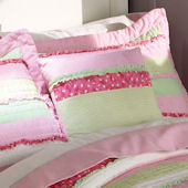 Annas Ruffle Pink Deco Pillow