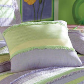 Annas Ruffle Purple Deco Pillow