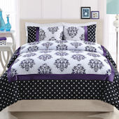 Franchesca Purple Quilt Set