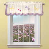 Dragonfly Butterfly Window Valance