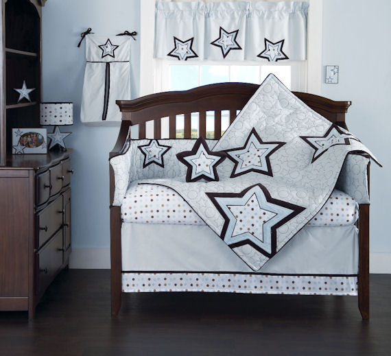 Mod Star 4 Piece Crib Bedding Set The Frog And The Princess