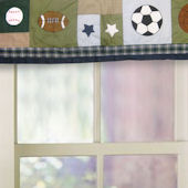 Sports Collage Window Valance