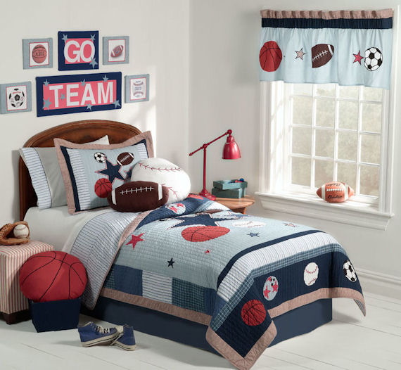 Sports GamesTwin Quilt Bedding Set