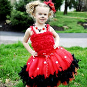Miss Minnie Mouse Couture Feather Party Dress