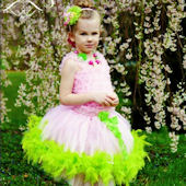Tinkerbell Whimsy Feather Party Dress