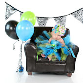 Wild Child Turquoise Birthday Crochet Tutu Dress
