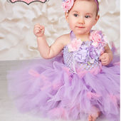 Posies And Petunias Lavender Garden Tutu Dress