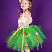 Luau Princess Island Lime Green Flower Tutu