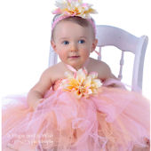 Tropical Princess Silk Dahlia Tutu Gown