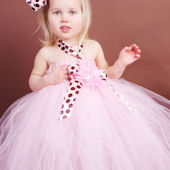 Girly Chocolate Truffle Brown And Pink Tutu Gown