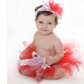 Candy Cane Cutie Holiday Red And White Tutu
