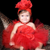 Red Beauty Valentines Day Crochet Tutu Dress
