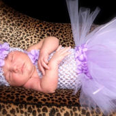 Lavender Bouquet Crochet Tutu Dress