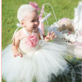 Shabby Vintage Lace Crochet Tutu Dress