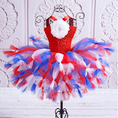 All American Freedom Flower Tutu Dress