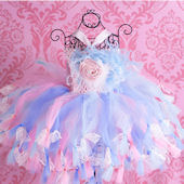 Bella Rose Lace Pink And Aqua Crochet Tutu Dress
