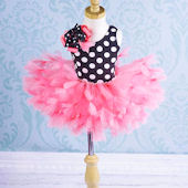 Trendy Polka Dots And Hot Pink Tutu Outfit