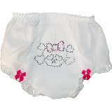 Bones Crystal Bling Diaper Cover