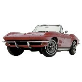 1965 Corvette Sting Ray Peel and Stick Wall Mural
