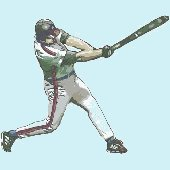 Baseball Batter Peel and Stick Wall Mural
