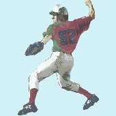 Baseball Pitcher Peel and Stick Wall Mural