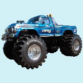 Bigfoot Original Monster Truck Peel and Stick