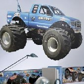Bigfoot Monster Truck Peel and Stick Wall Mural