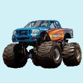 Bigfoot Cyclone Truck Peel and Stick Wall Mural